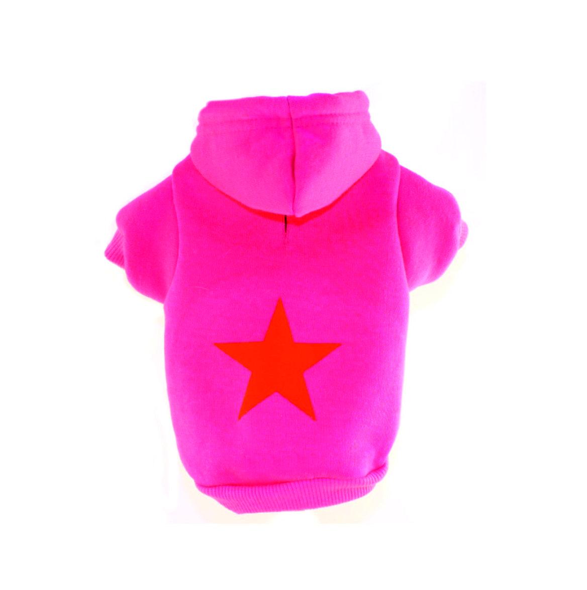 Hundehoodie pink Stern