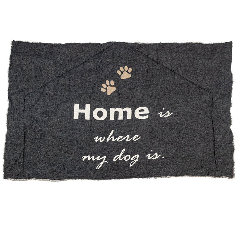 "Hundematte gefüttert ""Home is where my dog is"""