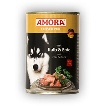 Amora Fleisch Pur Kalb und Ente 800g