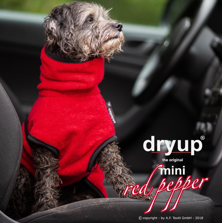 Hundebademantel Dryup Cape rot