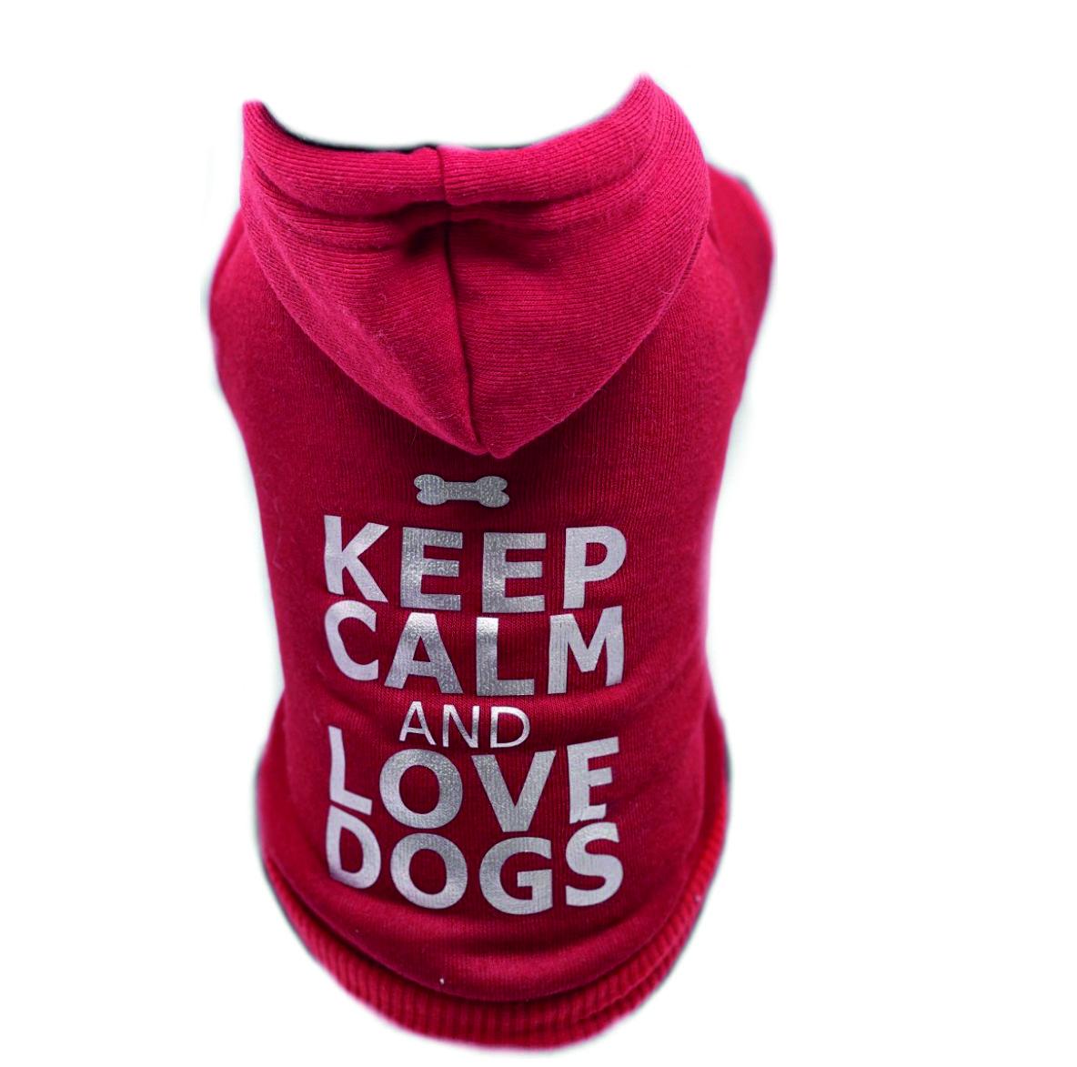 Hundehoodie Keep Calm and Love your Dog