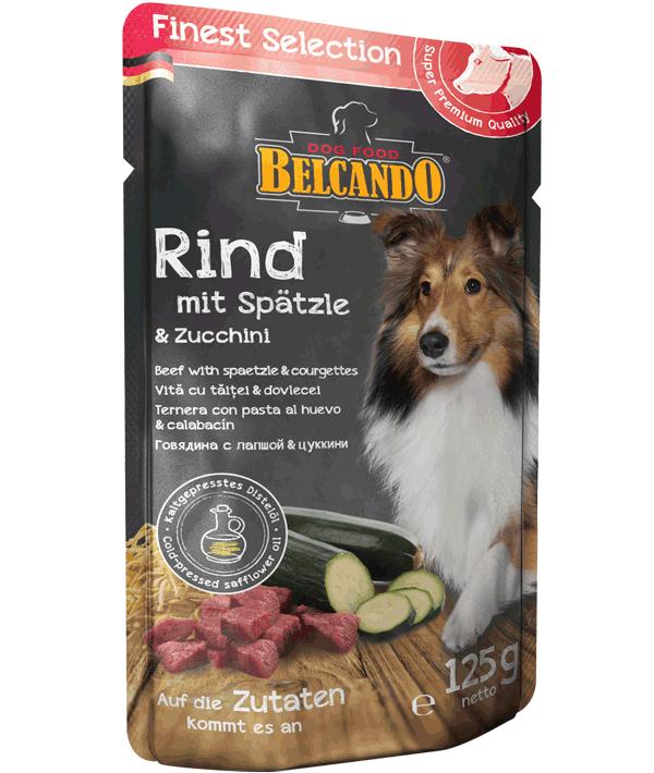 Belcando Rind mit Spätzle & Zucchini
