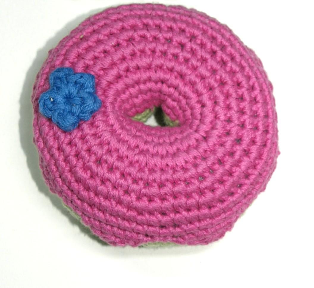 Handgehäkelter Donut pink